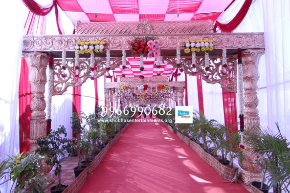 wedding stage flower and reception stage decorations in hyderabad (93)
