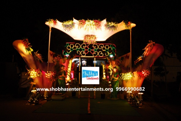 reception stage decorators in Hyderabad