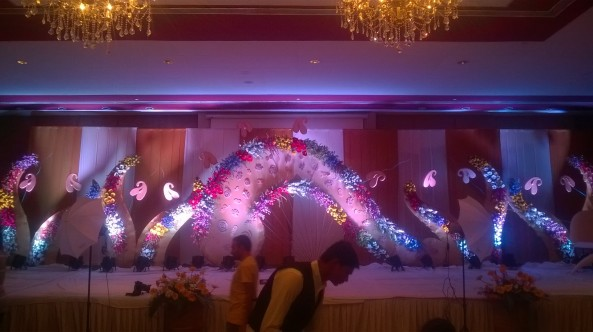 reception stage decorators in Hyderabad @9966990682