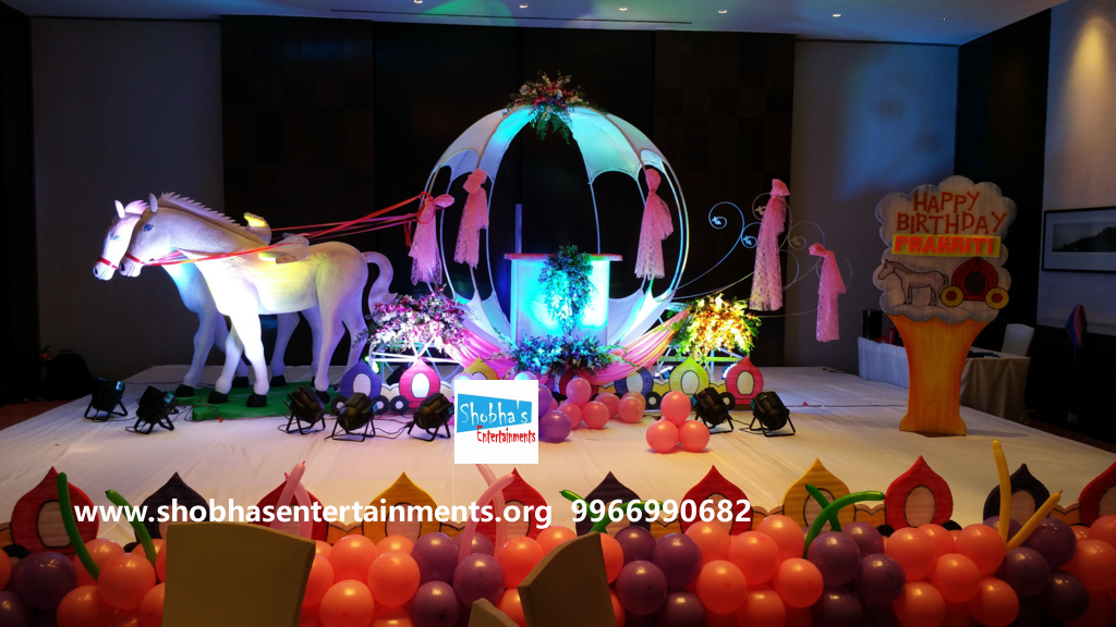 Birthday party decorators in hyderabad and warangal for 1st birthday stage decoration hyderabad