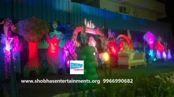jungle theme  decoration for kids birthday party (13)