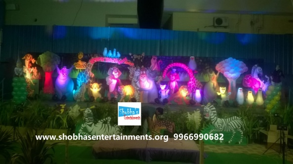 jungle theme  decoration for kids birthday party (2)