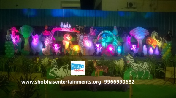 jungle theme  decoration for kids birthday party (4)
