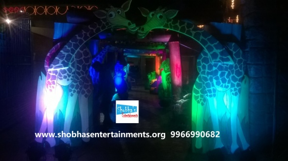 jungle theme  decoration for kids birthday party (7)