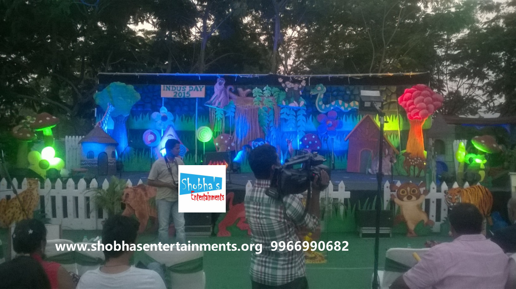 School stage decorations for annual day for Annual day stage decoration images