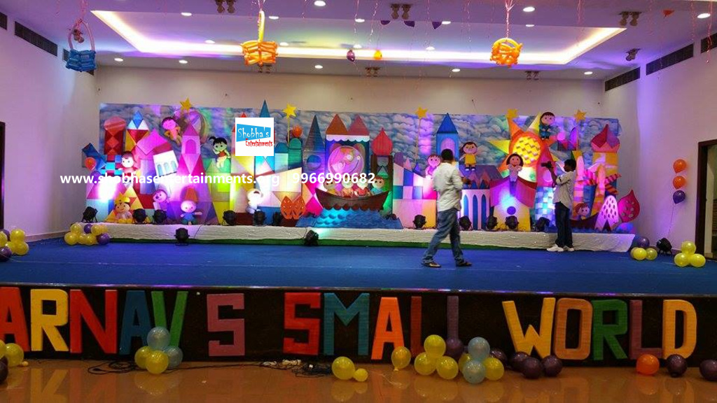 Birthday theme stage decorations for your kids first