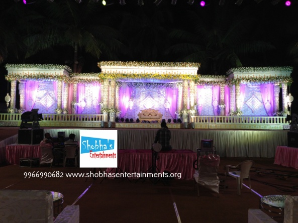 Reception, sangeet and engagement stage decorators in hyderabad