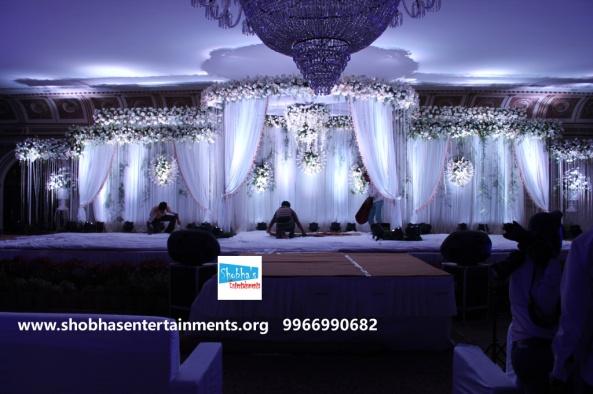 Wedding Marriage Reception Stage Flower Decorations In Hyderabad