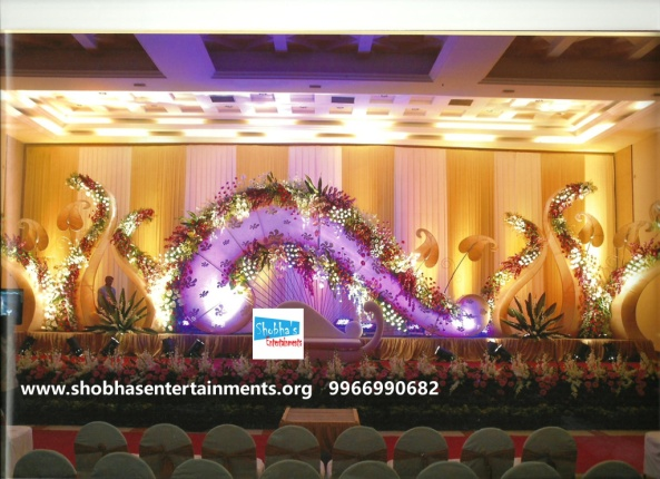 Reception decorations,engagement decorators, sangeet ceremony organizers , wedding flower decorations and event organizers in Hyderabad (114)