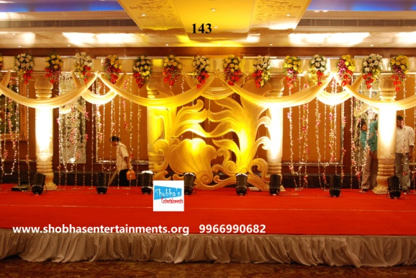 Reception decorations,engagement decorators, sangeet ceremony organizers , wedding flower decorations and event organizers in Hyderabad (25)
