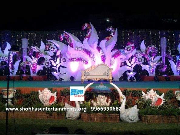 Reception decorations,engagement decorators, sangeet ceremony organizers , wedding flower decorations and event organizers in Hyderabad (31)
