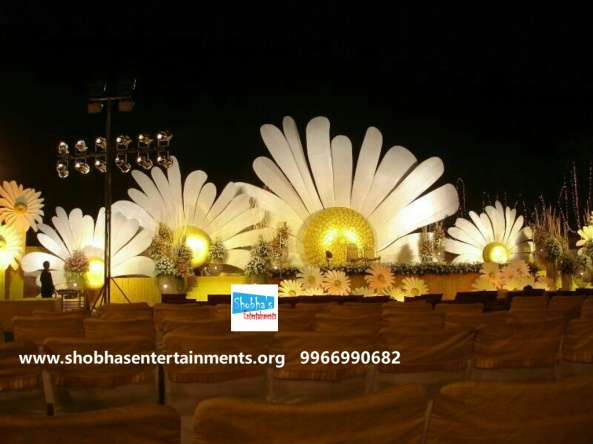 Reception decorations,engagement decorators, sangeet ceremony organizers , wedding flower decorations and event organizers in Hyderabad (32)