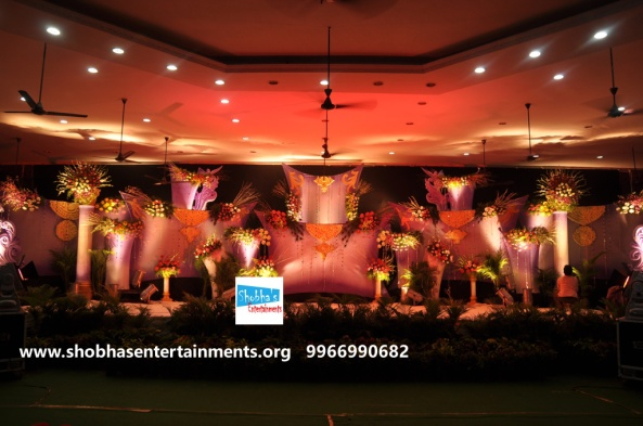 Reception decorations,engagement decorators, sangeet ceremony organizers , wedding flower decorations and event organizers in Hyderabad (43)