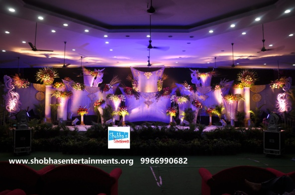 Reception decorations,engagement decorators, sangeet ceremony organizers , wedding flower decorations and event organizers in Hyderabad (44)