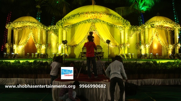 Reception decorations,engagement decorators, sangeet ceremony organizers , wedding flower decorations and event organizers in Hyderabad (96)