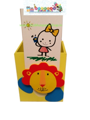 wooden pen stand with holding clip 70 (2)