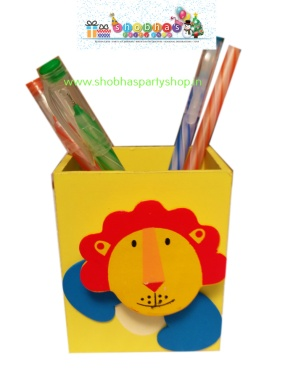 wooden pen stand with holding clip 70 (3)