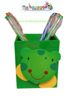 wooden pen stand with holding clip 70 (4)