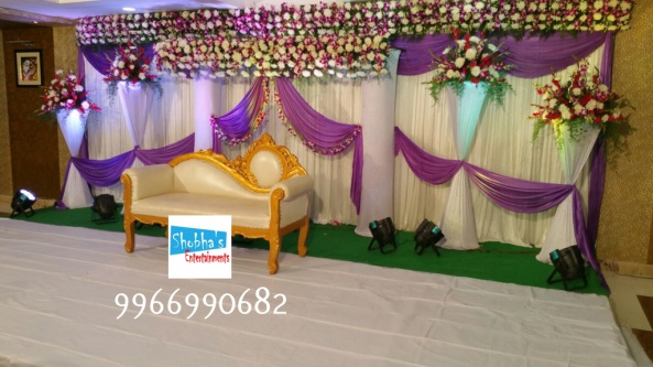 reception and engagement stage flower decorations in hyderabad (1)