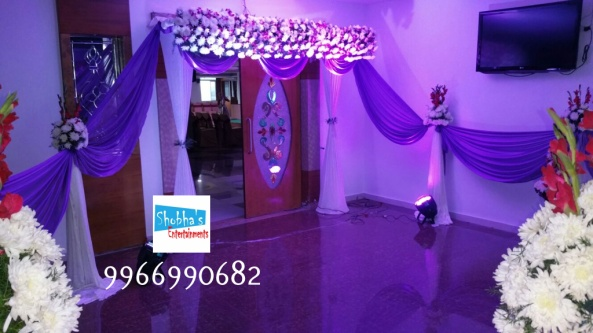 reception and engagement stage flower decorations in hyderabad (2)