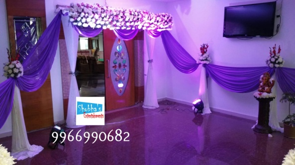 reception and engagement stage flower decorations in hyderabad (3)