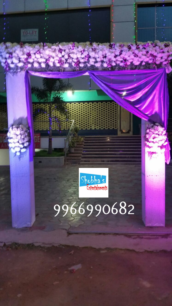 reception and engagement stage flower decorations in hyderabad (4)