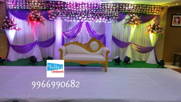 reception and engagement stage flower decorations in hyderabad (6)