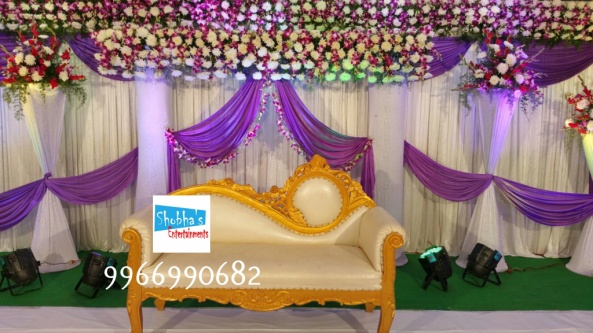 reception and engagement stage flower decorations in hyderabad (9)