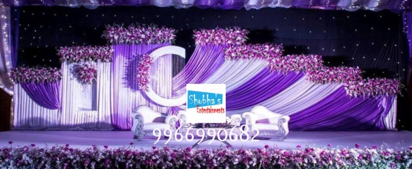 Reception stage flower decorators and wedding planners in hyderabad
