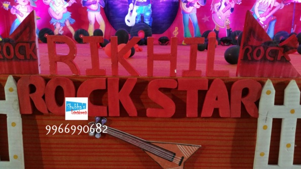 rockstar theme birthday party decorations in Hyderabad (10)