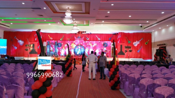 rockstar theme birthday party decorations in Hyderabad (15)