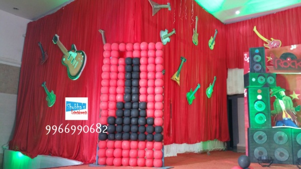 rockstar theme birthday party decorations in Hyderabad (16)