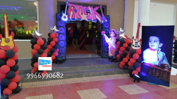 rockstar theme birthday party decorations in Hyderabad (18)