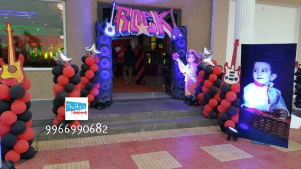 rockstar theme birthday party decorations in Hyderabad (18)