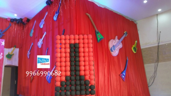 rockstar theme birthday party decorations in Hyderabad (19)
