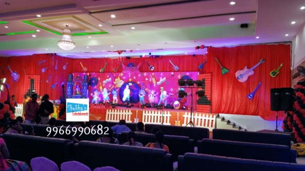rockstar theme birthday party decorations in Hyderabad (2)