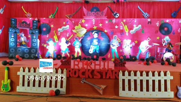 rockstar theme birthday party decorations in Hyderabad (3)