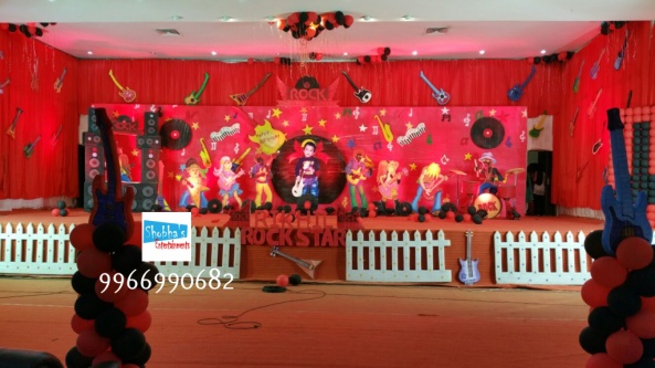rockstar theme birthday party decorations in Hyderabad (4)