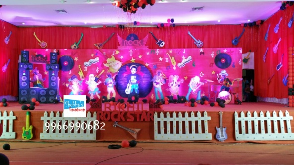 rockstar theme birthday party decorations in Hyderabad (7)