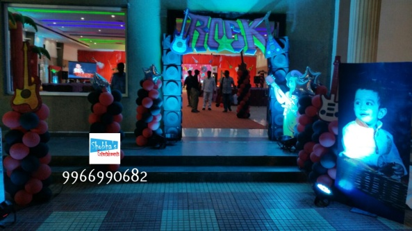 rockstar theme birthday party decorations in Hyderabad (8)