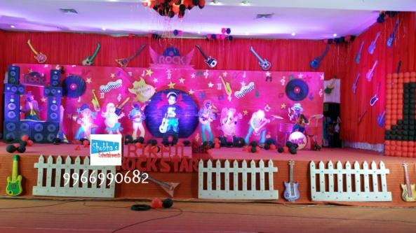 rockstar theme birthday party decorations in Hyderabad (9)
