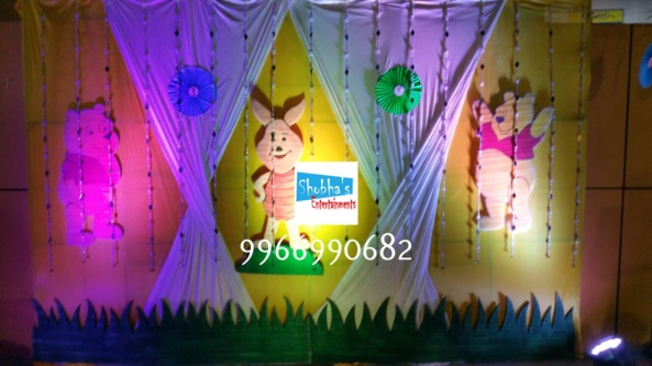 wiini the pooh theme birthday decorations in Hyderabad (2)