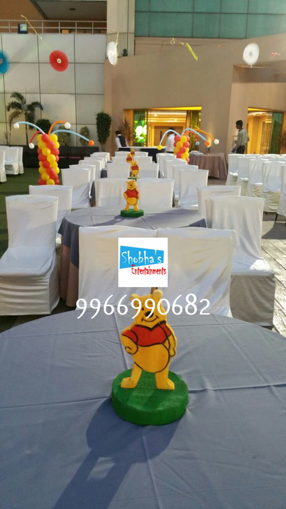 wiini the pooh theme birthday decorations in Hyderabad (3)