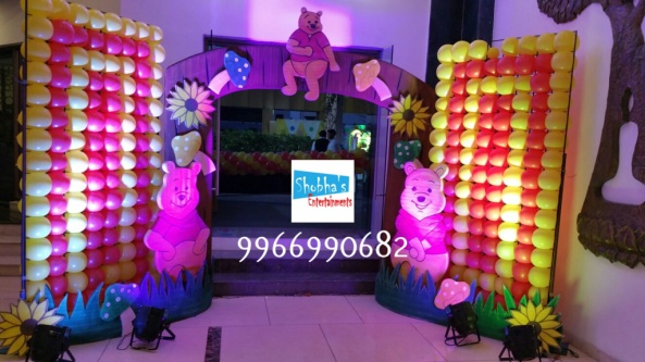 wiini the pooh theme birthday decorations in Hyderabad (4)