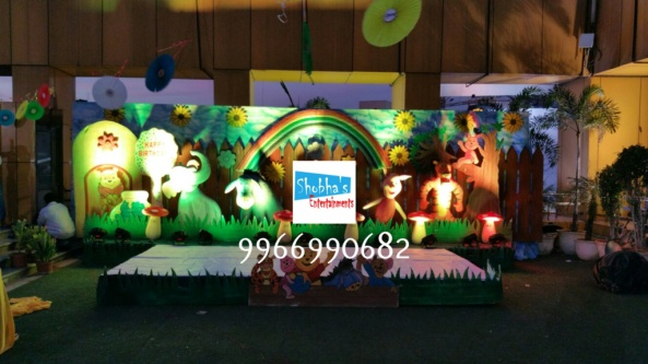 wiini the pooh theme birthday decorations in Hyderabad (5)