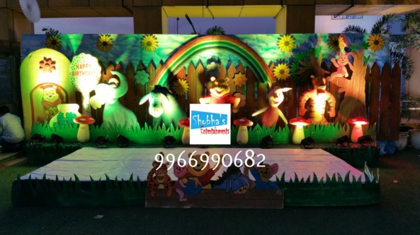 wiini the pooh theme birthday decorations in Hyderabad (6)
