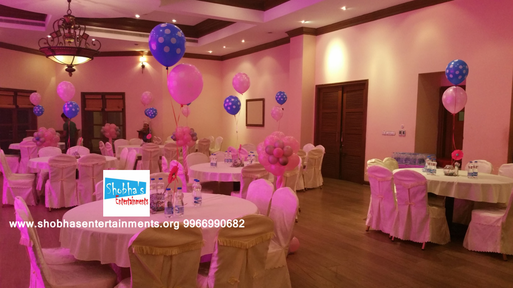 1st Birthday Party Decorators In Hyderabad With Paper Flowers