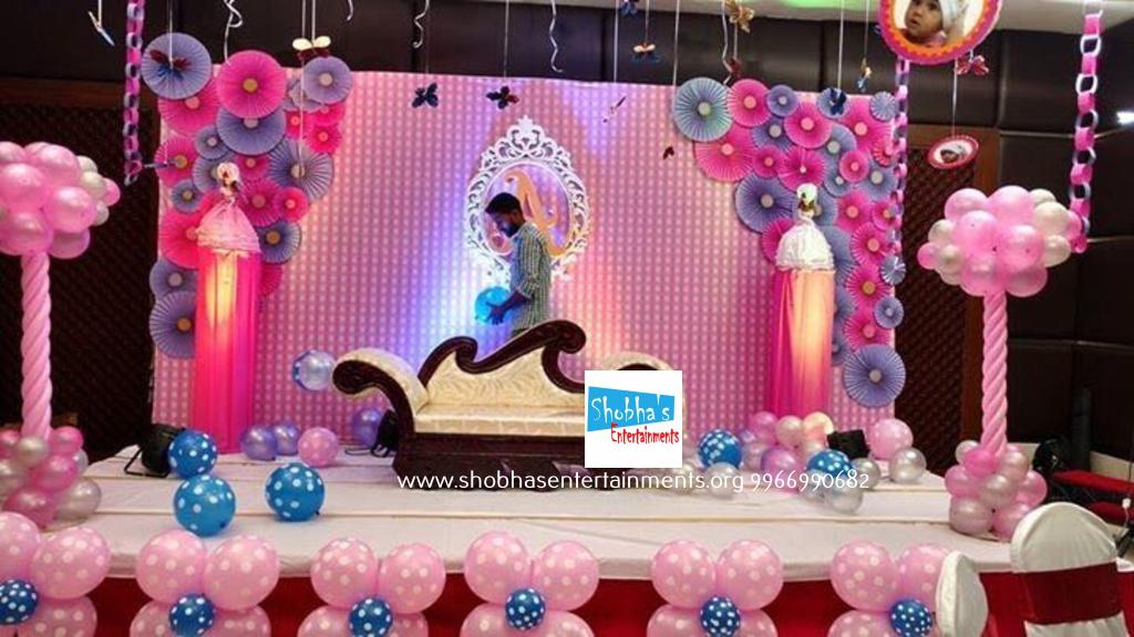 paper flower birthday party decorators in hyderabad Shobhas