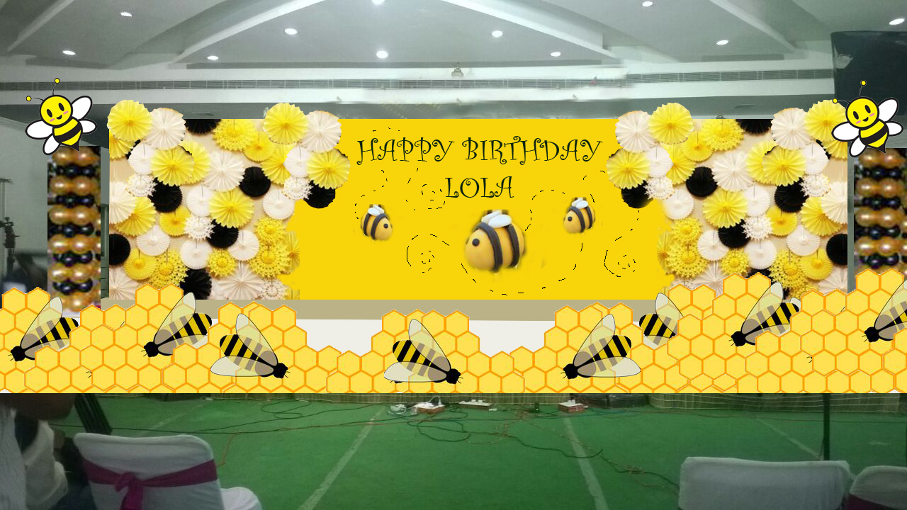 paper flower birthday party decorators in hyderabad | Shobha\'s ...