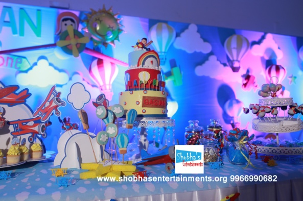 hotair balloons theme birthday decorators (4)